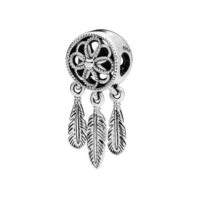 Feather Charm Sterling Silver