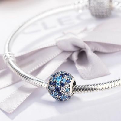 Birthstone Charm Sterling Silver