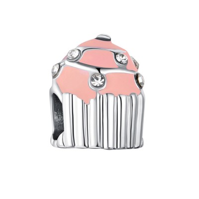 Cupcake Charm Sterling Silver