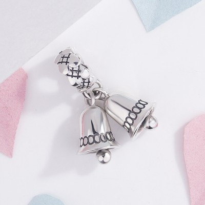 Christmas Bell Charm Sterling Silver