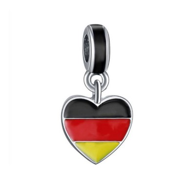 German Flag Charm Sterling Silver