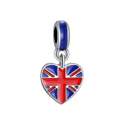 British Flag Charm Sterling Silver