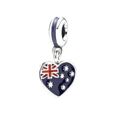 Australian Flag Charm Sterling Silver