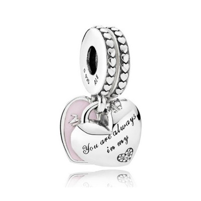I Love Mom Charm Sterling Silver