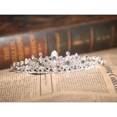 Charming Alloy Clear Crystals Wedding Headpieces