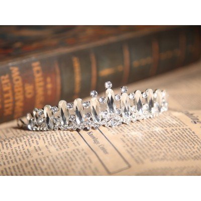 Clear Crystals Wedding Headpieces