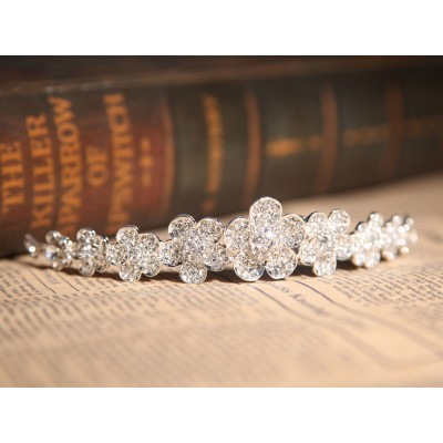 Nice Clear Crystals Flower Wedding Headpieces