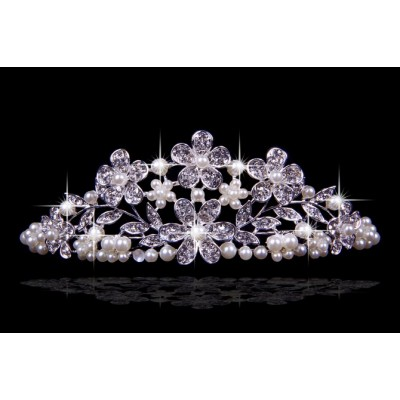 Nice Czech Rhinestones Flowers Pearls Wedding Headpieces