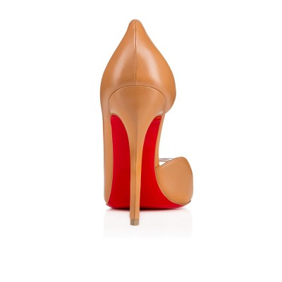Women's Sheepskin Peep Toe Stiletto Heel High Heels