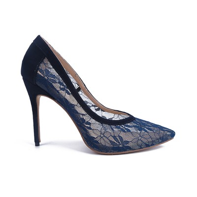 Women's Lace Closed Toe Stiletto Heel High Heels