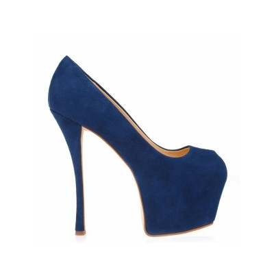 Women's Stiletto Heel Suede Peep Toe Platform Platforms Shoes